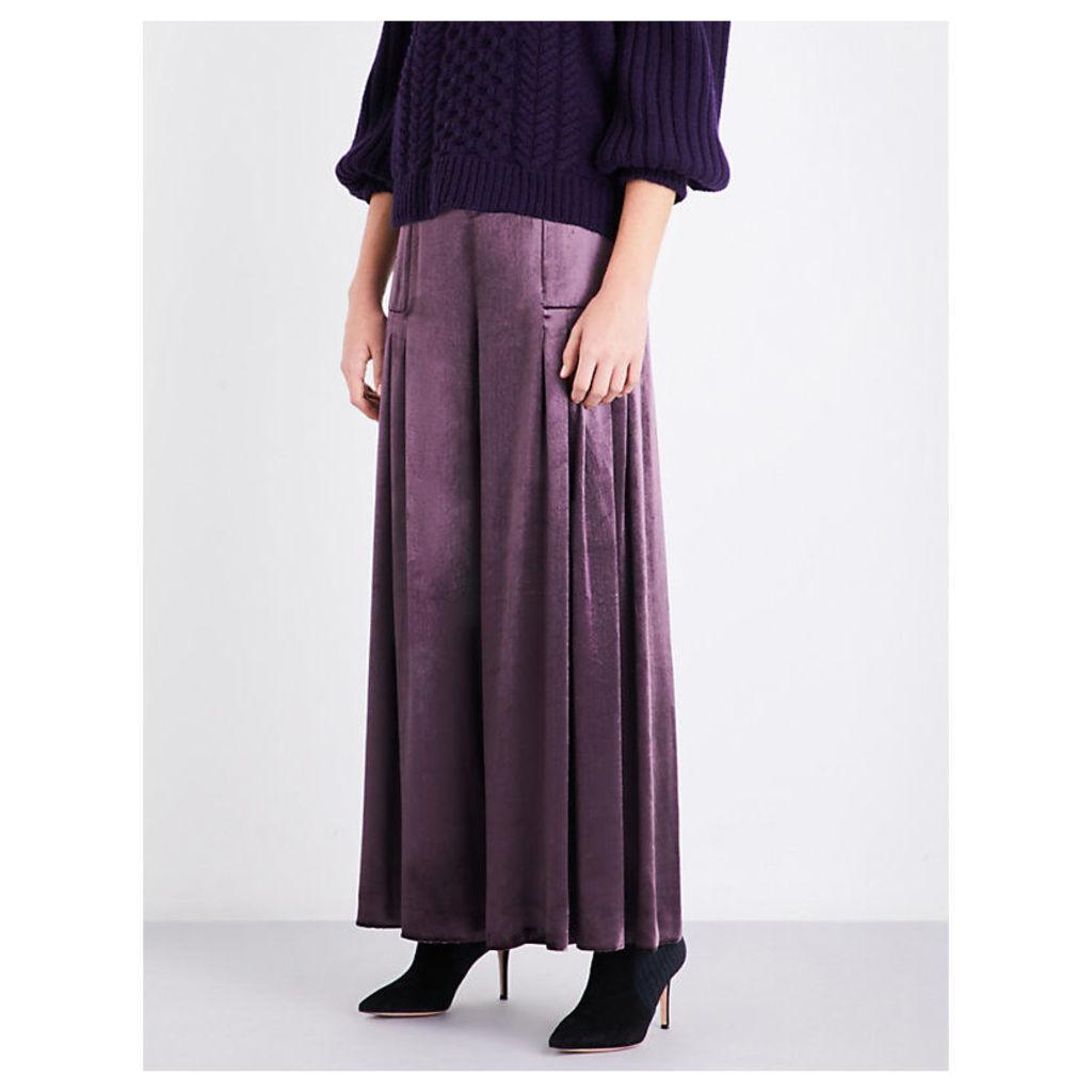 Breeze wide-leg velvet trousers