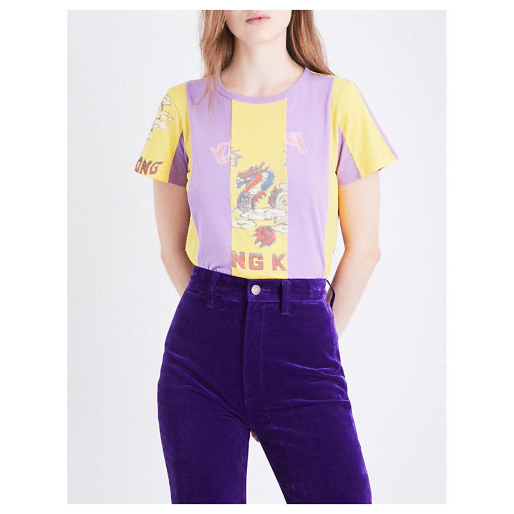 Hong Kong graphic-print cotton-jersey T-shirt
