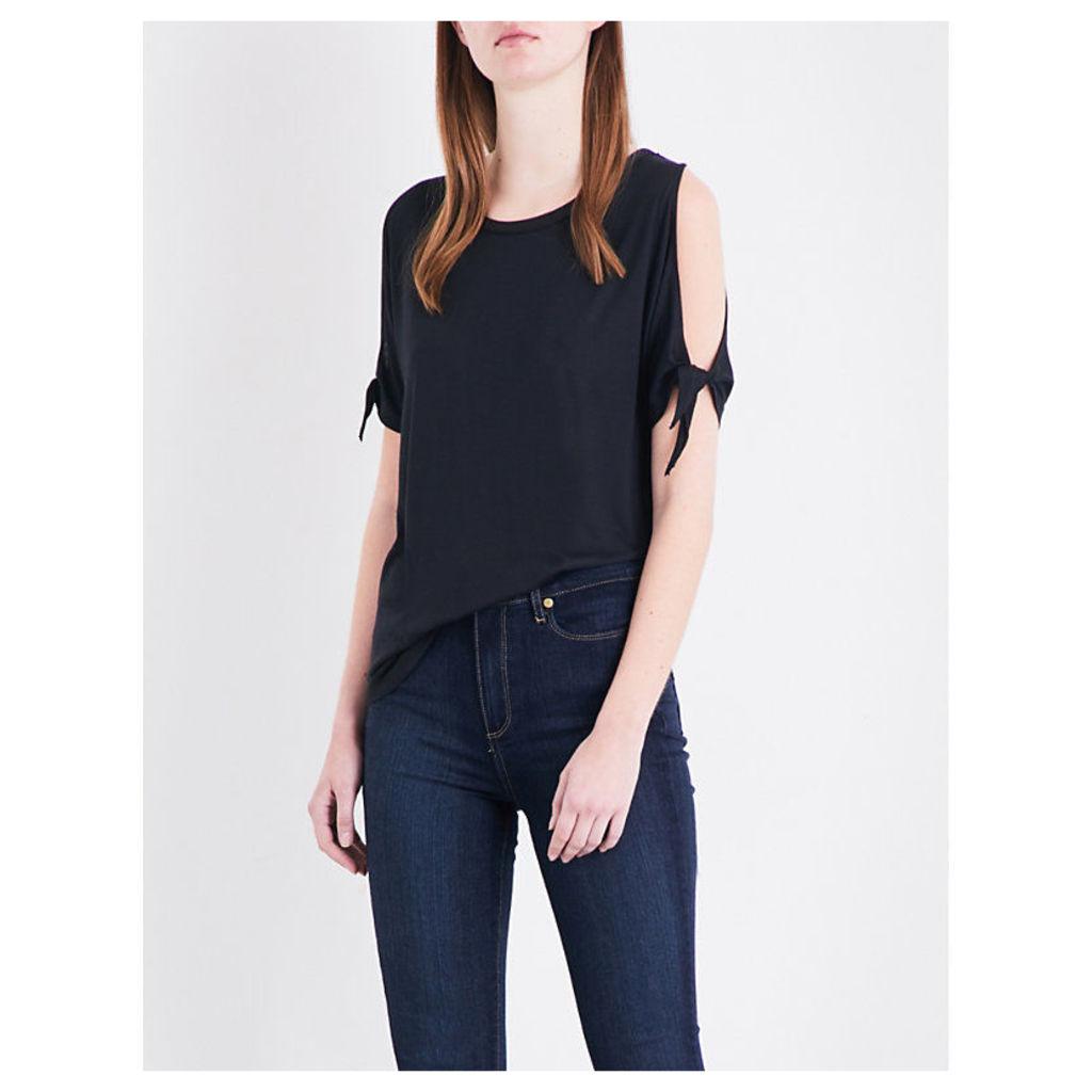 Paige Denim Majorie jersey T-shirt, Women's, Size: M, Black