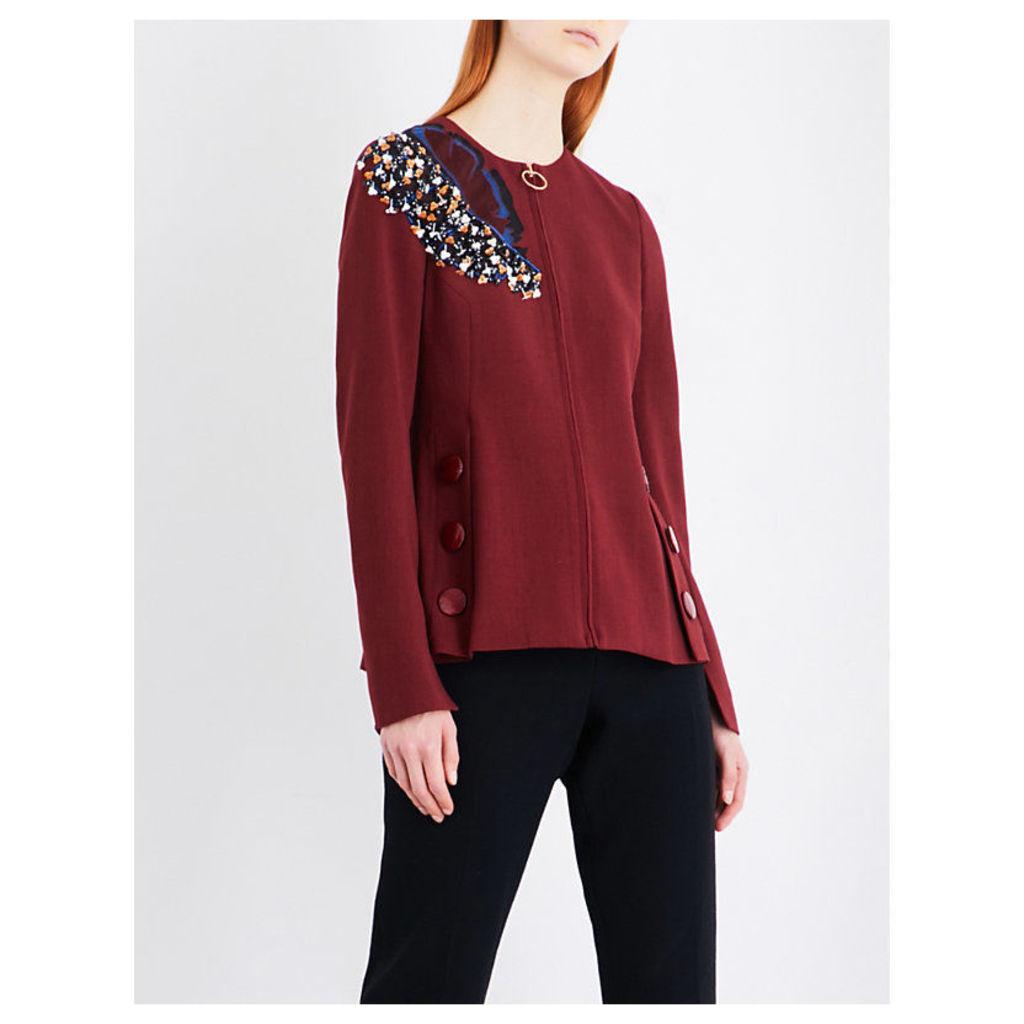Medori embroidered woven jacket