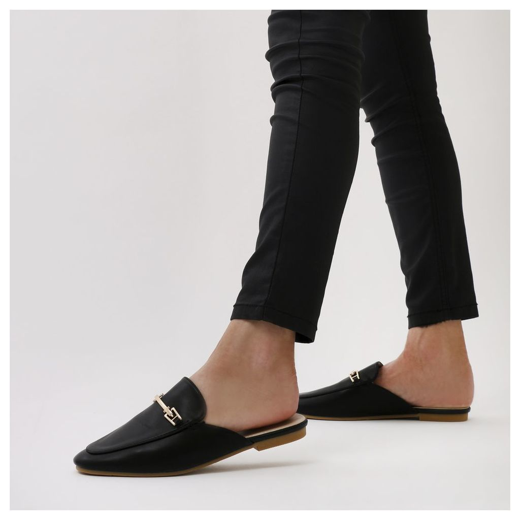 Shoreditch Backless Loafers, Black