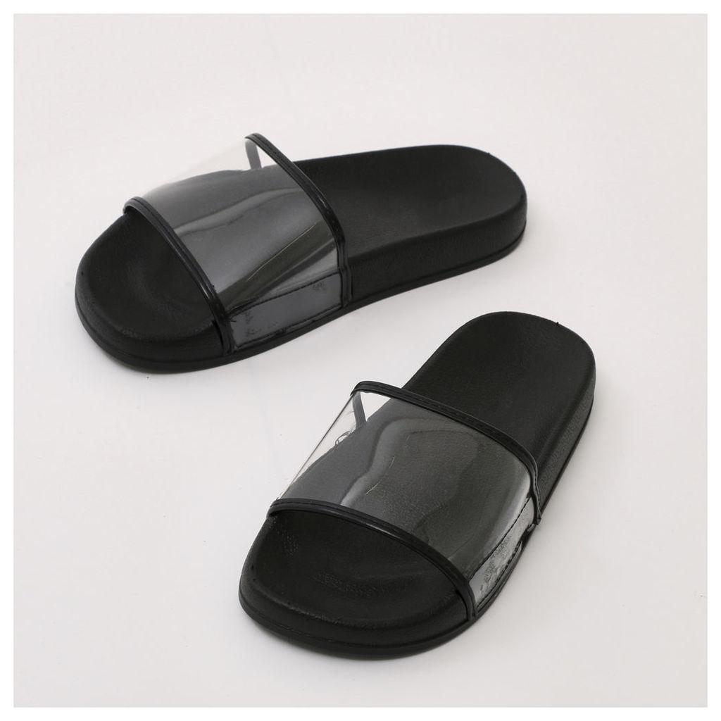 Pure Perspex Flat Sliders, Black