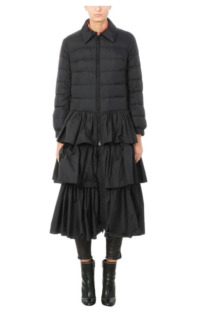 RED Valentino Black Puffer Caot
