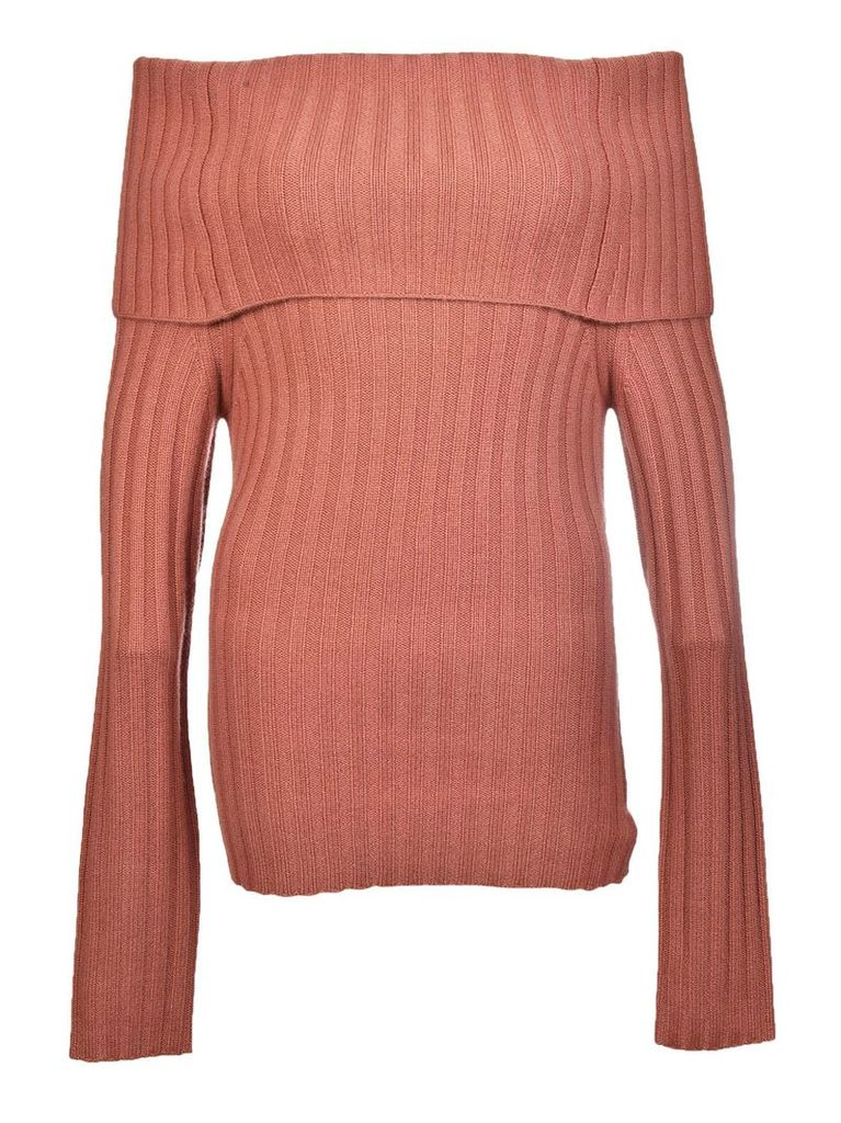 Theory Off-shoulder Foldover Sweater