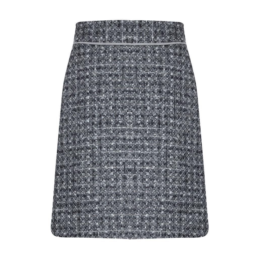 British Wool Tweedy Skirt in Grey
