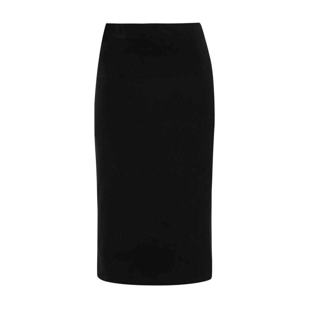 Black Velvet Pencil Skirt