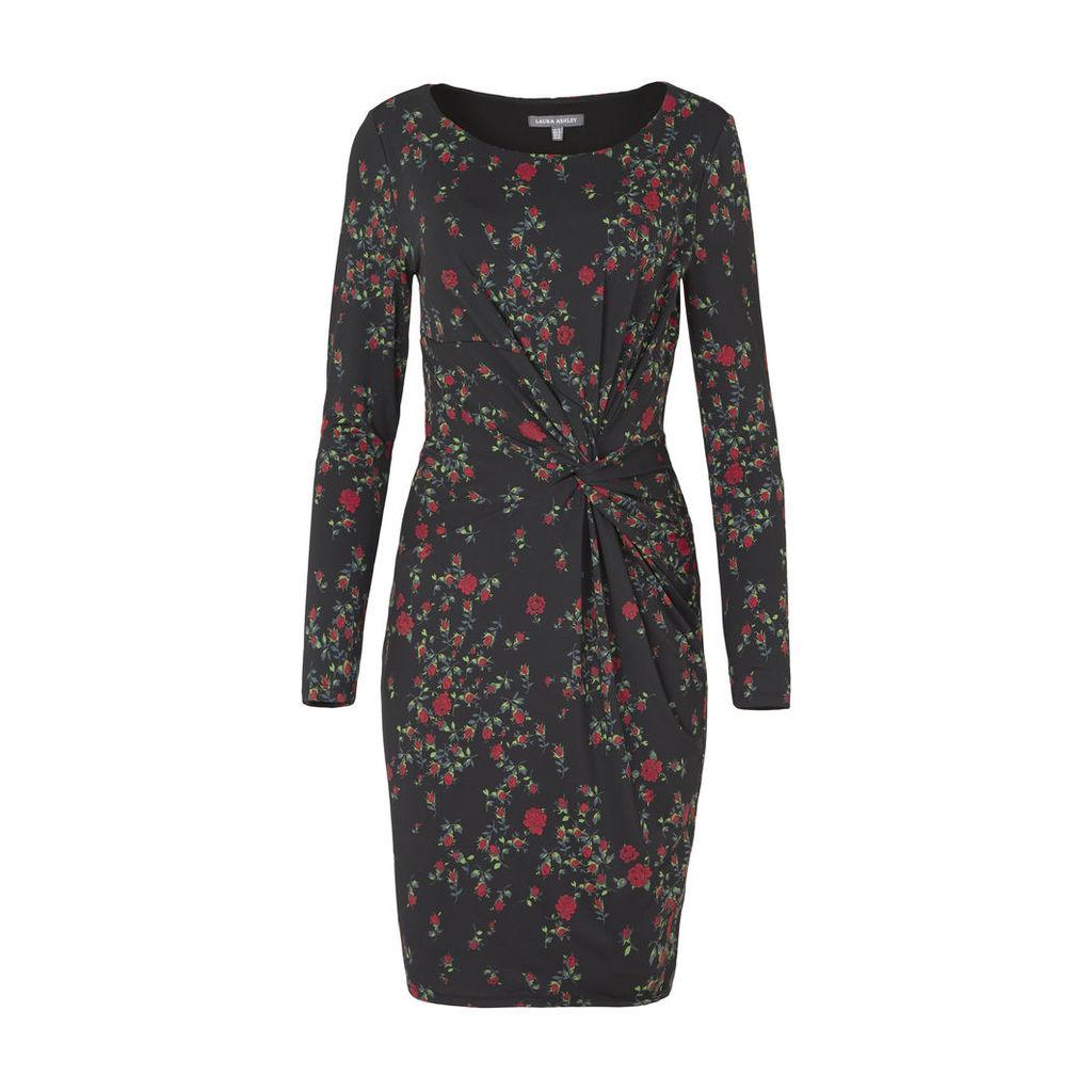 Rose Printed Twist Dress
