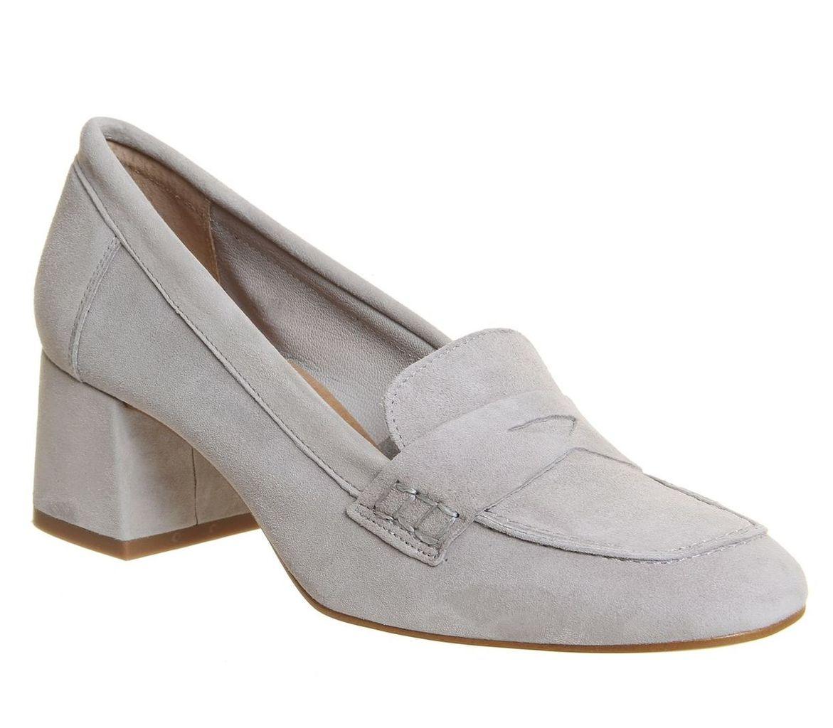 Office Mod Block Heel Loafer, Grey