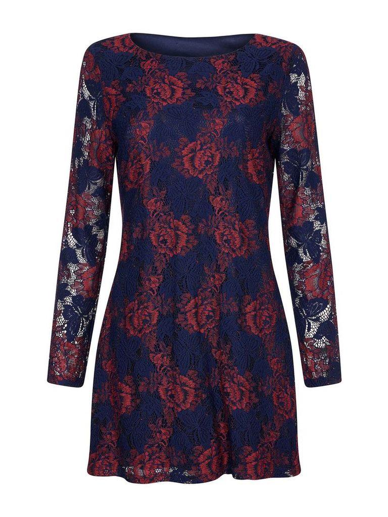 Mela London Lace Bodycon Dress, Blue