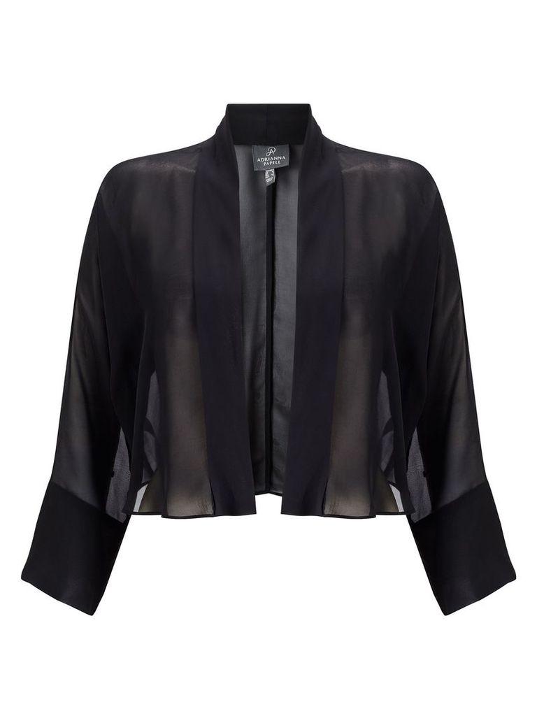 Adrianna Papell Form Fitting Evening Dress & Jacket Set, Black