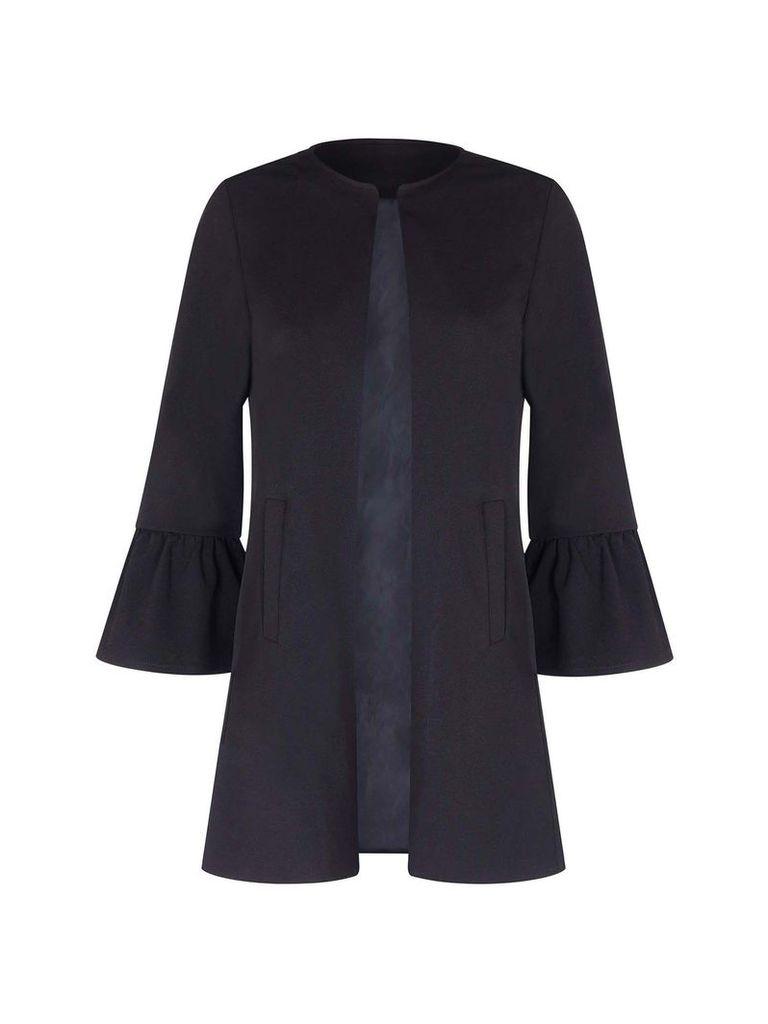 Mela London Flare Sleeve Jacket, Black