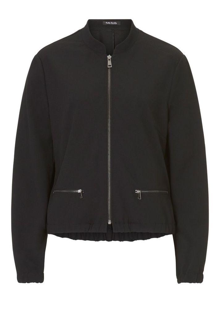 Betty Barclay Fine crêpe blouson jacket, Black