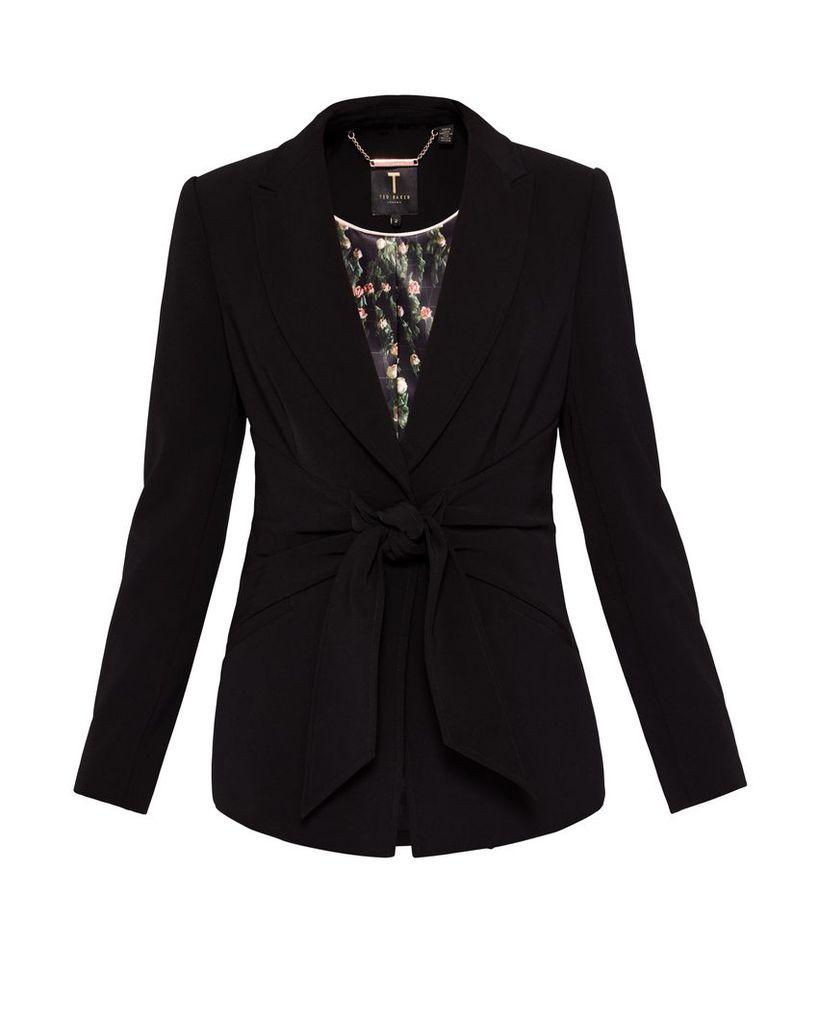 Ted Baker Jilla Wrap Front Suit Jacket, Black