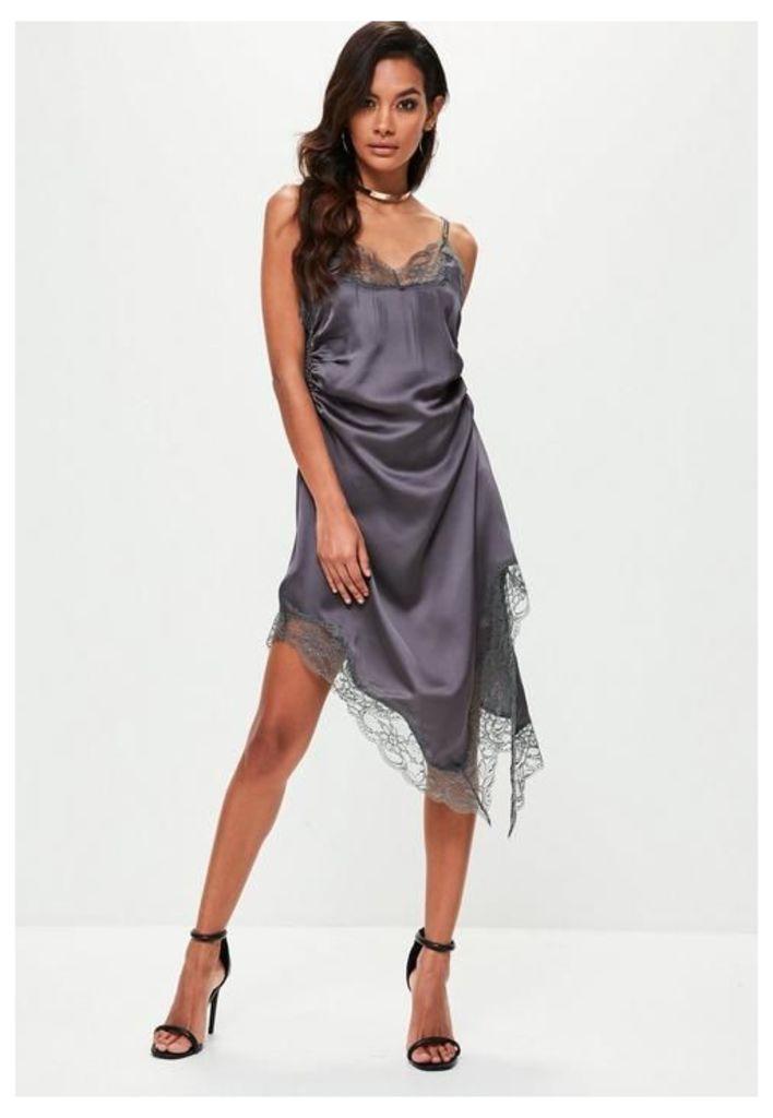 Grey Silky Cami Dress, Grey