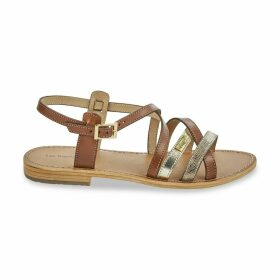Hapax Leather Flat Sandals with Cross-Strap