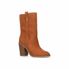 Nine West Harbourn - Tan Mid Heel Ankle Boots