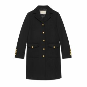Wool coat with Double G