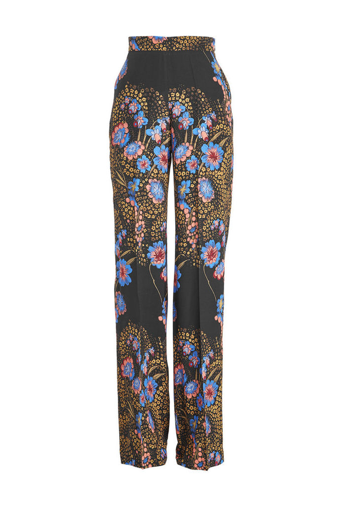 Etro High Waisted Printed Silk Pants