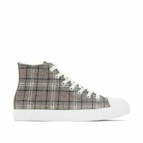Checked Hi-Top Trainers
