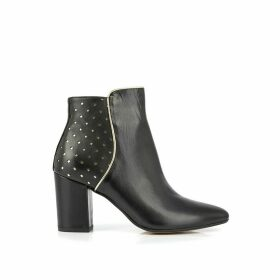 Charlyna Leather Ankle Boots