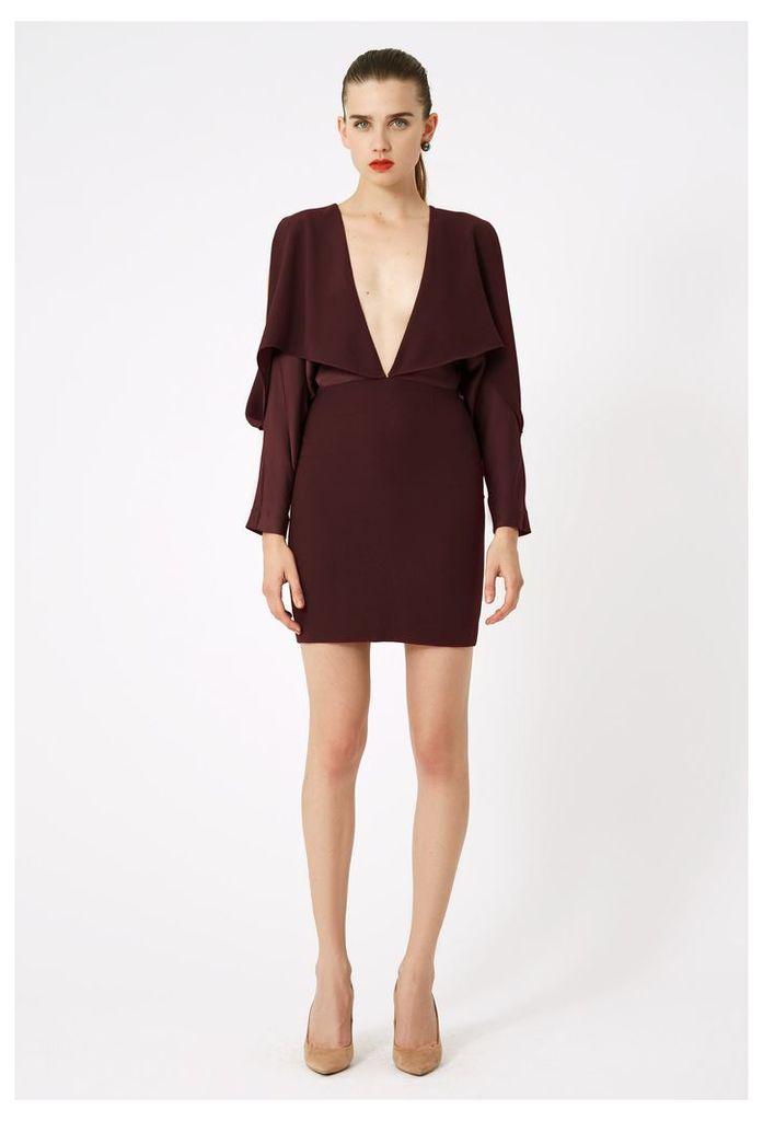 Larissa Deep Plunge Mini Dress - Plum