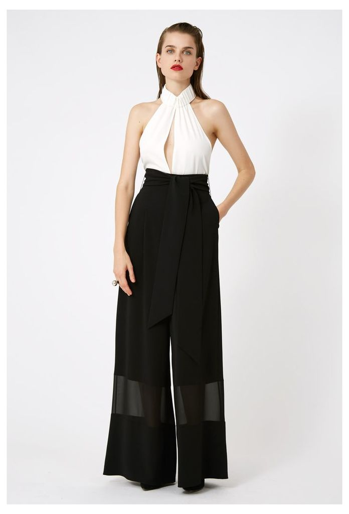 Gabby Belted Waist Trousers - Black