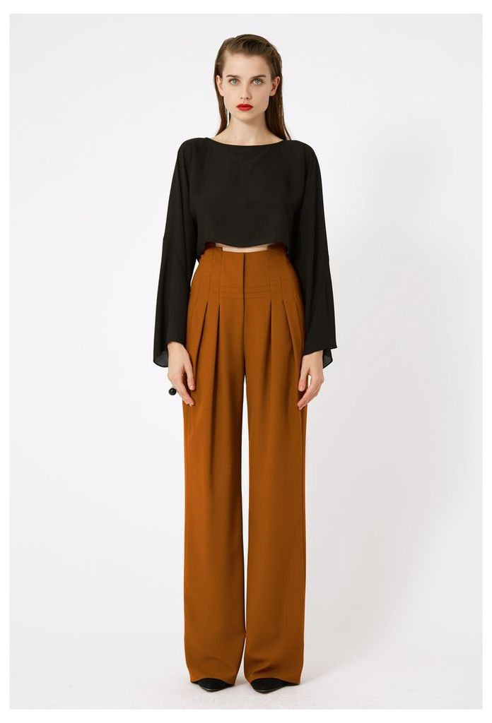 Lynai Structured Trousers - Rust