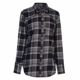 Firetrap Blackaseal Open Back Shirt - Navy/Burgundy