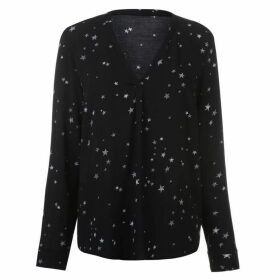 Firetrap Blackseal Pamela Star Print Top - Black