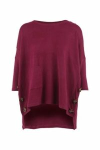 Oversized Button Detail Jumper