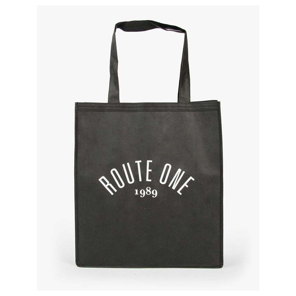 Route One Shopper Tote Bag - Black (One Size Only)