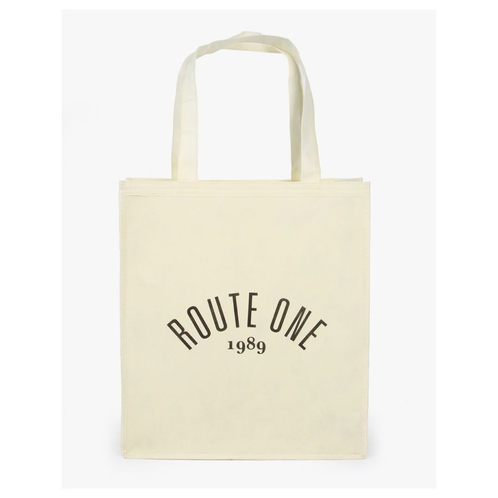 Route One Shopper Tote Bag - Off White (One Size Only)