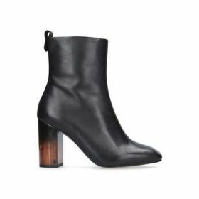 Kurt Geiger London Strut - Black Mid Heel Calf Boots