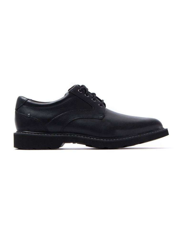 Men's Charles View Leather Derby Shoes - Black
