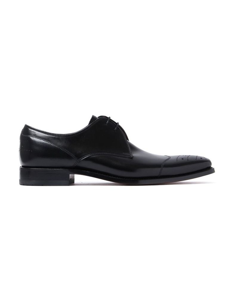 Men's Crawford Leather Derby Shoes - Black