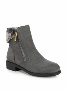 Quinney Faux Fur Suede Booties