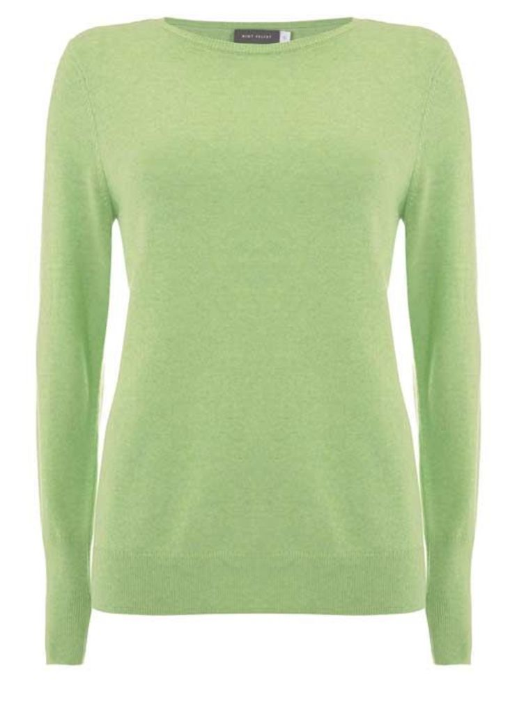 Lime Marl Crew Neck Knit