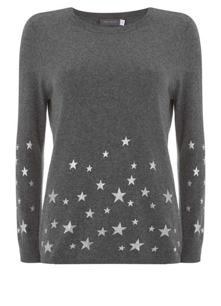 Granite Scattered Star Knit