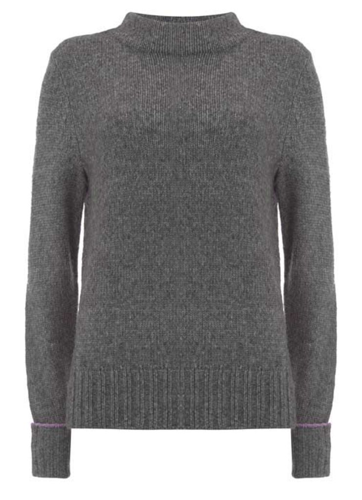 Charcoal Side Split Knit