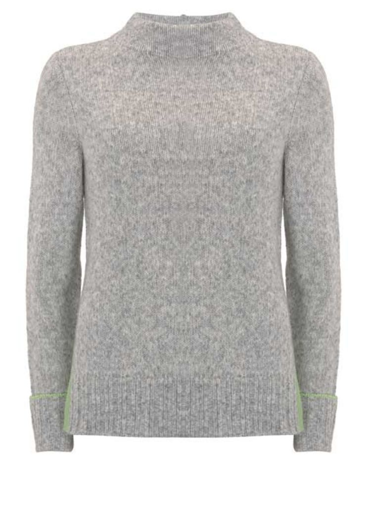 Silver Grey Side Split Knit