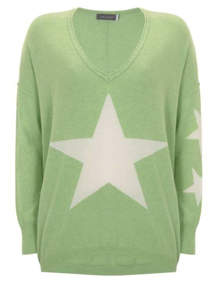 Lime Star Front Cocoon Knit
