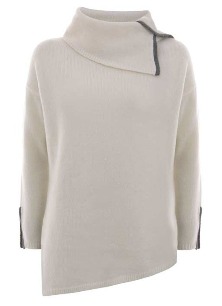 Ivory Asymmetric Knit