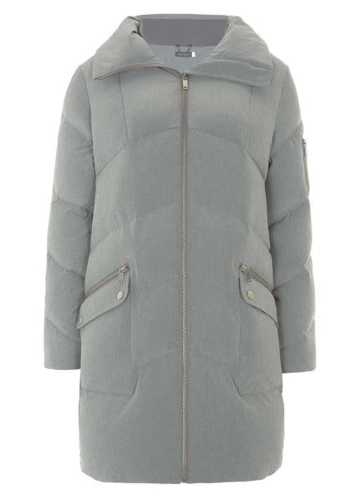 Grey Duvet Padded Coat