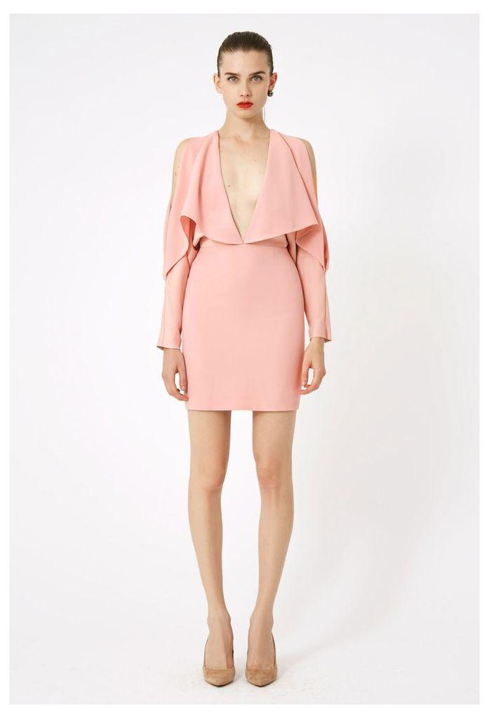 Larissa Deep Plunge Mini Dress - Pink