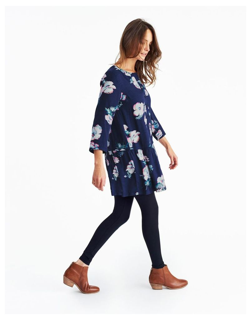 Navy Poppy Bette Woven Tunic  Size 18 | Joules UK