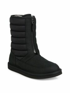 Zaire Quilted Dyed Shearling Boots