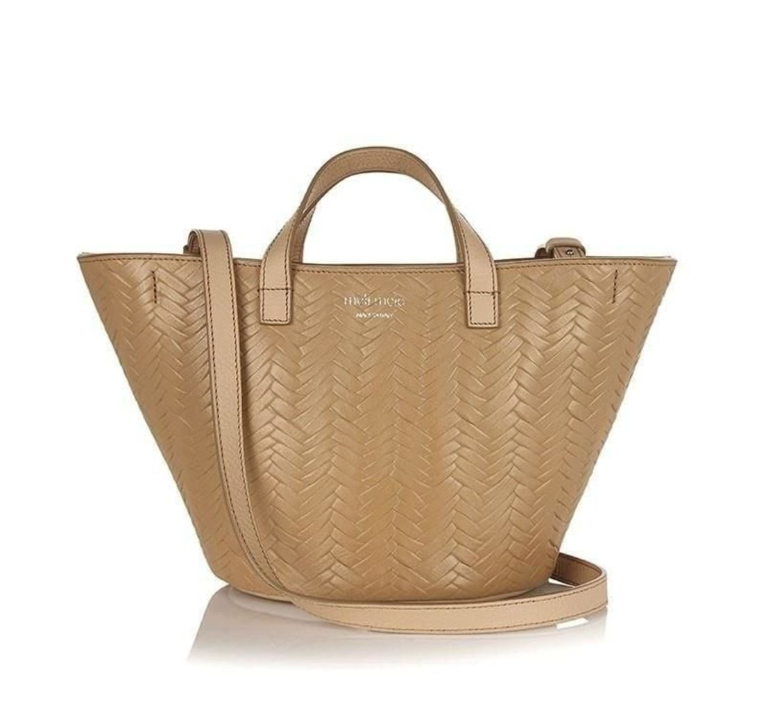 Rosalia Mini Cross Body Bag Sand Woven Large Print