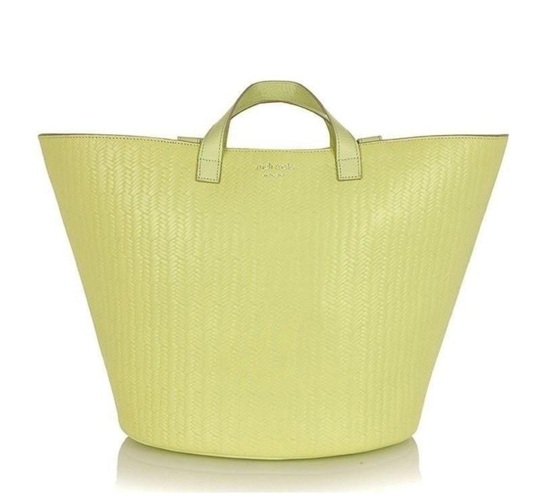 Rosalia Tote Bag Lime Woven
