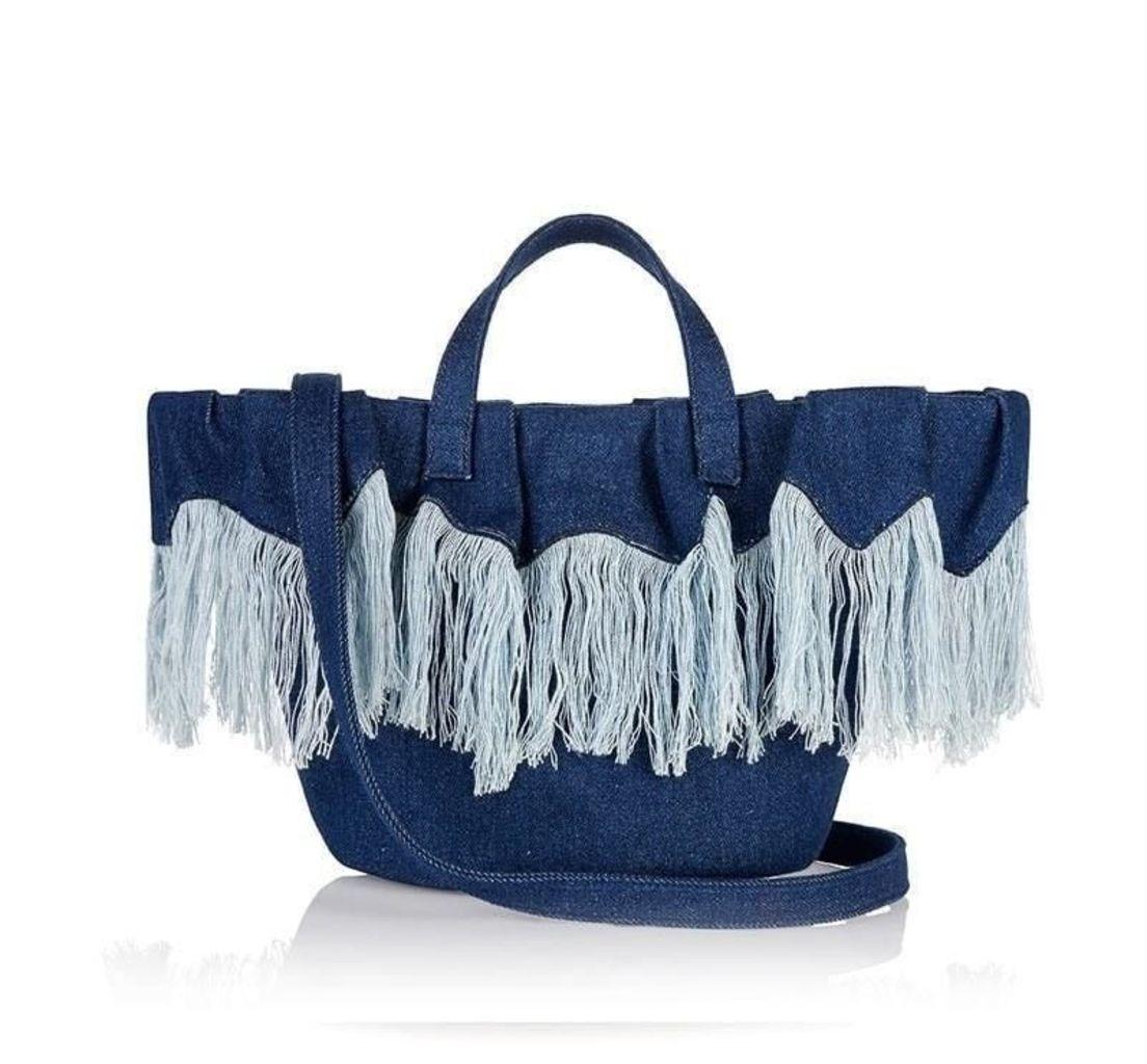 Rosalia Mini Cross Body Bag Frayed Denim