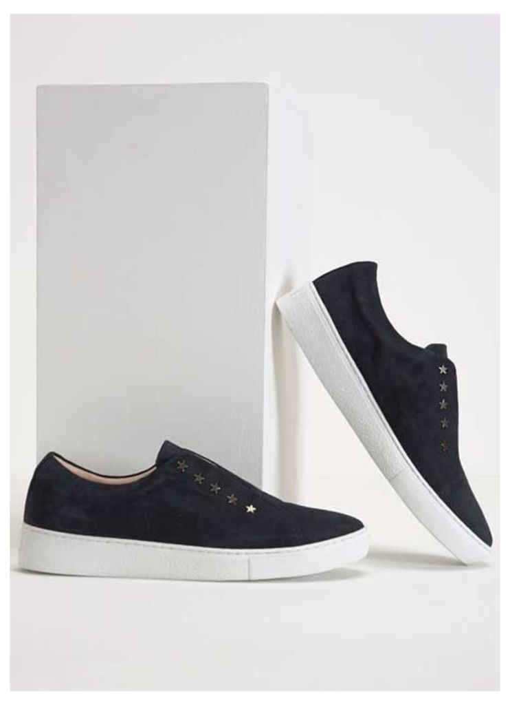 Lila Navy Star Laceless Trainer
